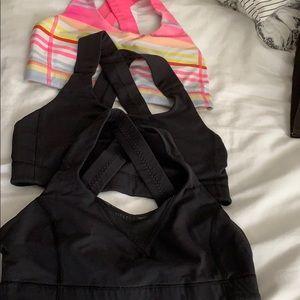 Lululemon size 6 sports bra's set of 3